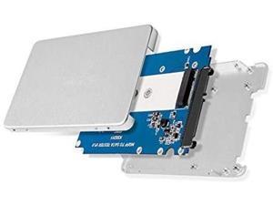 "M.2 B Key SSD (B-Key AHCI SATA Mode) to SATA 3 Converter 2.5"" HDD Enclosure M.2 NGFF SATA SSD (B-Key) to 2.5 in. Convert M.2 SSD into 7mm high 2.5in SATA 6Gbps Open Frame SSD"