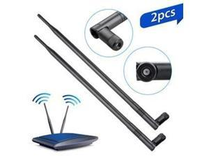 WiFi Bluetooth Antenna 2x 9dBi Dual Band Omni Directional Antenna 2.4Ghz/5Ghz with RP-SMA Male Connector For Wireless Wi-Fi Router Network Devices PC Camera