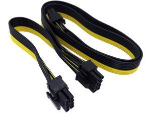 8 Pin Male to Dual 2X 8 Pin (6+2) Male PCI Express Power Adapter Cable for EVGA Power Supply 24-inch+8-inch (62cm+21cm) (NOT Compatible with Seasonic Sentey and Corsair Power Supply)