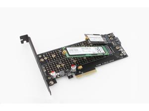 M.2 NVMe SSD NGFF to PCI-e X4 B Key + M Key Dual M.2 Converter