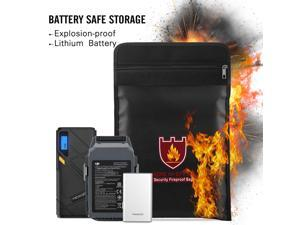 """Fireproof Document Bags and Storages Fire-Safe Waterproof File Best fire Resistant Bag Water resistance Fireproof Storage Pouch for Cash Money, Jewelry, Passport, Photos, Legal Documents (11"""" x 7"""")"""