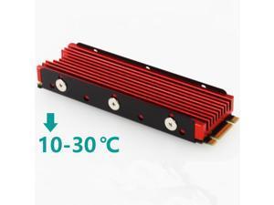 M.2 2280 NVMe SSD Heatsink NVMe M.2 SSD Cooler Heatsinks 10 - 30°C Cooling Effect