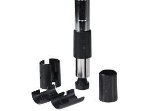 "Apollo Hardware 7/8 Inch Shelf Clips/ Split sleeves, Black, 2 Pack / 8 Pair (7/8"" & 22.2mm Diameter Post Size)"