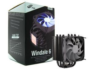 FSP Windale 6 CPU Cooler 6 Direct Contact Heatpipes 6mm Aluminum Alloy with 120mm Blue LED PWM Fan (AC601)