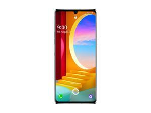 LG Velvet 5G 128GB LMG900TM GSM Unlocked 6.8 in P-OLED Display 6GB RAM Triple 48MP + 8MP + 5MP Camera Smartphone - White