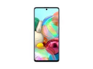 "Samsung Galaxy A71 128GB SM-A715F/DS Dual SIM GSM Only 6.7"" Super AMOLED Plus Capacitive Touchscreen Display 4G LTE 8GB RAM Quad Camera Smartphone - Prism Crush Blue - International Version"
