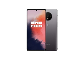 """OnePlus 7T 256GB HD1900 GSM Factory Unlocked 4G LTE 6.55"""" Fluid Display 8GB RAM 48 MP Ultra Wide Triple Camera Smartphone - Frosted Silver - International Version"""