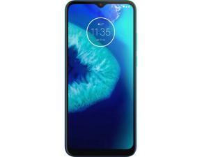 "Motorola Moto G8 Power Lite 64GB + 4GB RAM XT2055-2 6.5"" IPS LCD Display 5000 mAh Battery, Dual SIM GSM  Factory Unlocked 4G LTE Triple Camera Smartphone - Turquesa (Artic Blue) International Version"