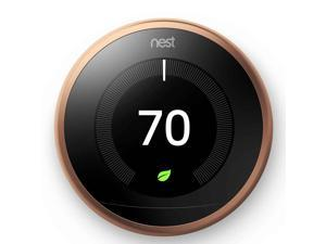 Google, T3021US, Nest Learning Thermostat, 3rd Gen, Smart Thermostat, Works With Alexa - Copper