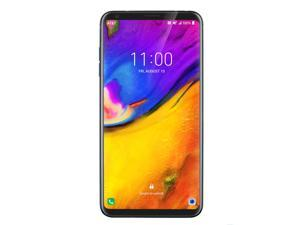 LG V35 ThinQ 64GB GSM Unlocked 4G LTE 6 in P-OLED Capacitive Touchscreen 6GB RAM Dual 16MP + 16MP Camera Phone - Aurora Black