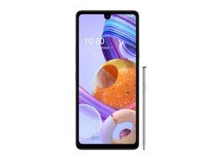 LG K71 Stylus 128GB Dual SIM LM-Q730 GSM Factory Unlocked 6.8 in IPS LCD Display 4G LTE 4GB RAM Triple Camera Smartphone - White -International Version