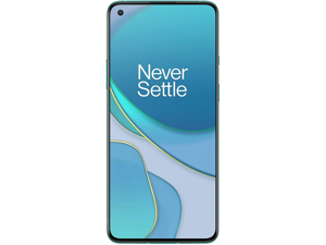 OnePlus 8T 5G 128GB Dual SIM KB2001 GSM Factory Unlocked 6.55 in Fluid AMOLED Display 8GB RAM Quad Camera Smartphone - Aquamarine Green