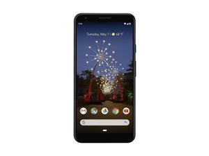 "Google Pixel 3a 64GB G020G GSM + CDMA Unlocked 4G LTE 5.6"" OLED Capacitive Touchscreen 4GB RAM 12.2MP Camera Smartphone - Just Black"