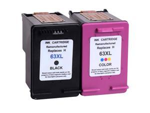 2-pack  Combo Pack HP 63 63XL Ink Cartridge(1 Black,1 Color)Replacement For HP DeskJet 1110 1112 2130 2131 2132 2133 2134 3630 3631 3632 3633 3636 ENVY 4520 and OfficeJet