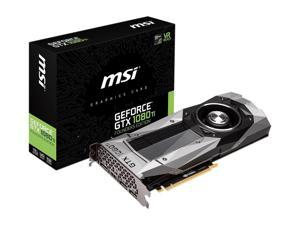 MSI GeForce GTX 1080 Ti FE DirectX 12 GTX 1080 Ti Founders Edition 11GB 352-Bit GDDR5X PCI Express 3.0 x16 HDCP Ready SLI Support Video Card