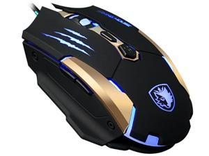 SADES Q6 Gaming mice USB mouse 7 Buttons, 3500 DPI, 4 Optical LED Metal bottom Gaming Mouse