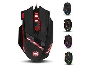 Zelotes usb Gaming mice 7200 DPI 7 Buttons, Wired USB Gaming Mouse