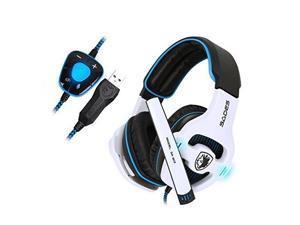 Sades SA903 Gaming Headset 7.1 Surround Sound USB Earmuff Headset PC Stereo Headphone with Microphone