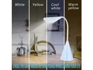 GUANYA LA-K208 LED Desk Lamp,Eye-caring Table Light with Touch Control-White