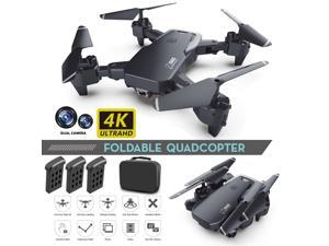 iGame WiFi FPV Drone with 4K HD Wide Angle Dual Camera Real-time Transmission RC Quadcopter, 3 Batteries