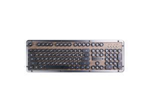 Azio Keyboard MK-RETRO-W-01B-US Bluetooth Retro Classic Mechanical Keyboard Elwood Retail