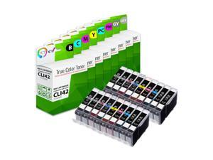 TCT Compatible Ink Cartridge Replacement for Canon CLI-42 CLI42 works with Canon Pixma Pro-100 Printers (Black, Cyan, Magenta, Yellow, Photo Cyan, Photo Magenta, Gray, Light Gray) - 18 Pack