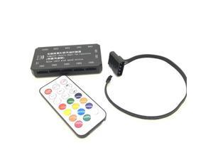 LED RGB Dimmer Controller + RF Wireless Remote Control For DC 12V PC Cooling Fan