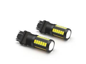 White 3157 LED Backup Reverse Light Bulbs for Chevy Silverado 1500 1999-2013 2x