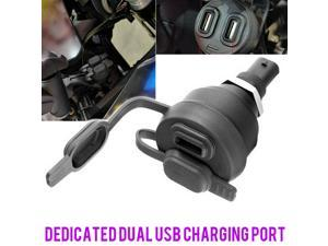 Dual USB Charger Power Adapter Kit Fit For BMW R1200GS R1250GS F900R F850GS p-