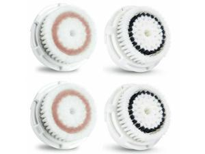2 Radiance + 2 Sensitive Facial Brush Head Replacements Fit Clarisonic MIA 1,2,3