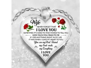 To My Wife I Love You Husband Luxury Necklace Birthday Anniversary Xmas Gift