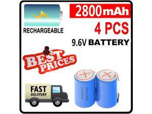 4/5 SubC Sub C 2800mAh 1.2V Ni-Mh Rechargeable 4pcs Battery Blue Cell with Tab