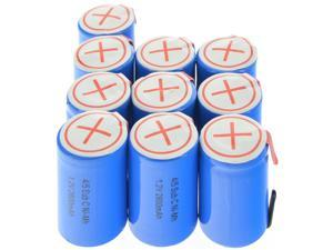 1.2V Ni-Mh Rechargeable Battery Blue Cell with Tab 4/5 SubC Sub C 2800mAh 10pcs