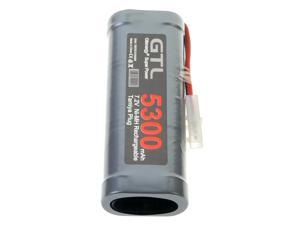 GTL 1Pc 7.2V 5300mAH Ni-MH Rechargeable Grey Battery Pack For Toys Models RC Car Truck