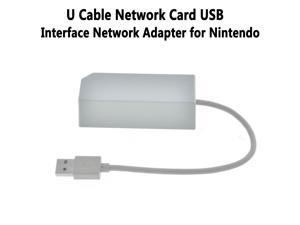 LAN Adapter for Nintendo Switch Wii Wii U Wired Internet Connection