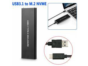 SSD Hard Disk Drive Case M.2 to USB Type-C 3.1 NVME NGFF PCIE HDD Enclosure New