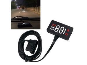 Car Head Up Display OBD2 II HUD Projector Speedometer MPH KM/h Speed Warning 01