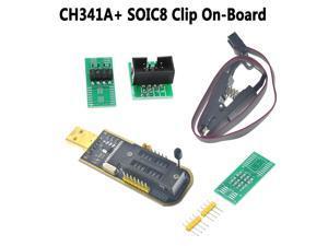 CH341A 24 25 Series EEPROM Flash BIOS USB Programmer + SOIC8 Clip On-Board Set
