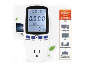 LCD Display Digital Power Saving Energy Monitor Watt Amp Volt KWh Meter Analyzer