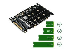 M.2 SSD to U.2 Adapter 2 in 1 M.2 NVMe Key B/M NGFF SSD to PCI-e U.2 SFF-8639