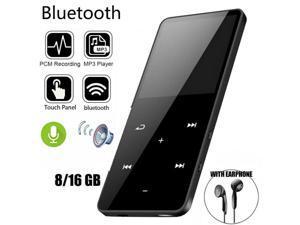 4/8/16GB Bluetooth MP3 Player MP4 Media FM Radio Recorder Sport Music Speakers