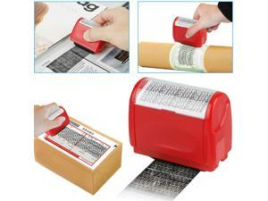 Identity Messy Code Roller Stamp Theft Guard ID Privacy Secure Data Protection