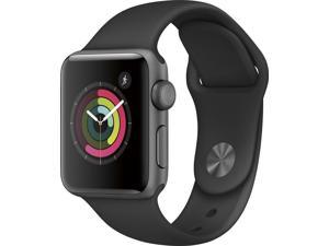 Apple Watch Series 2 42mm, Aluminum Case with Black Sport Band