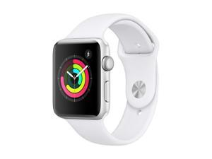 Apple Watch Series 3 42mm GPS Only, Silver Aluminum Case - White Sport Band