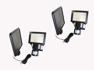 2 PACK 108 SMD LEDs Solar Motion Sensor Light, 1100 lumen, Time and 3 Intelligent Modes Adjustable, Waterproof For Wall , Patio, Garden, Landscape, Deck, Shed, Lawn