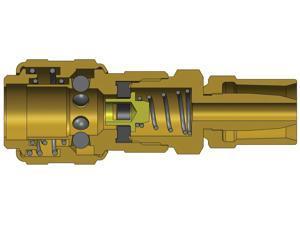 Dixon 2DK3-B 1/4 Ind Coupler 3/8 x 11/16 Reusable Brass (850492)