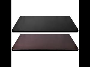 Table Top Rectangular Reversible Laminate for Desk, Office, Restaurant, Bar, Or Home (Black/Mahogany, 48x24)