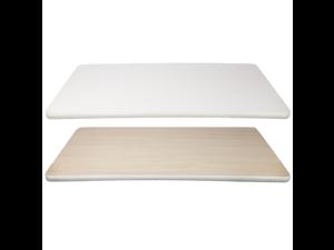 Table Top Rectangular Reversible Laminate for Desk, Office, Restaurant, Bar, Or Home (White/Maple, 48x24)