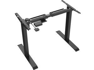 AnthroDesk Sit Stand Starter Desk with Easy Up/Down Controls (Black)