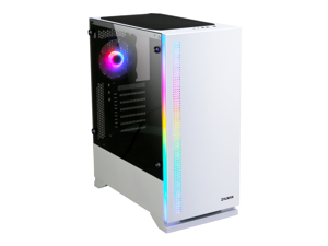 Zalman S5 White, ATX Mid Tower Computer/PC Case with Pre-Installed 120mm Fans, Tempered Glass on Side Panel